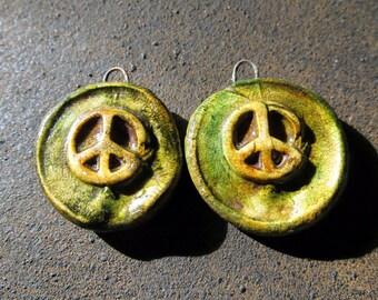 Peace — Rustic, Bohemian, Hippy, Peace Bead Set