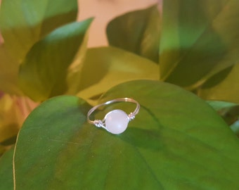Quartz Wire Wrapped Ring