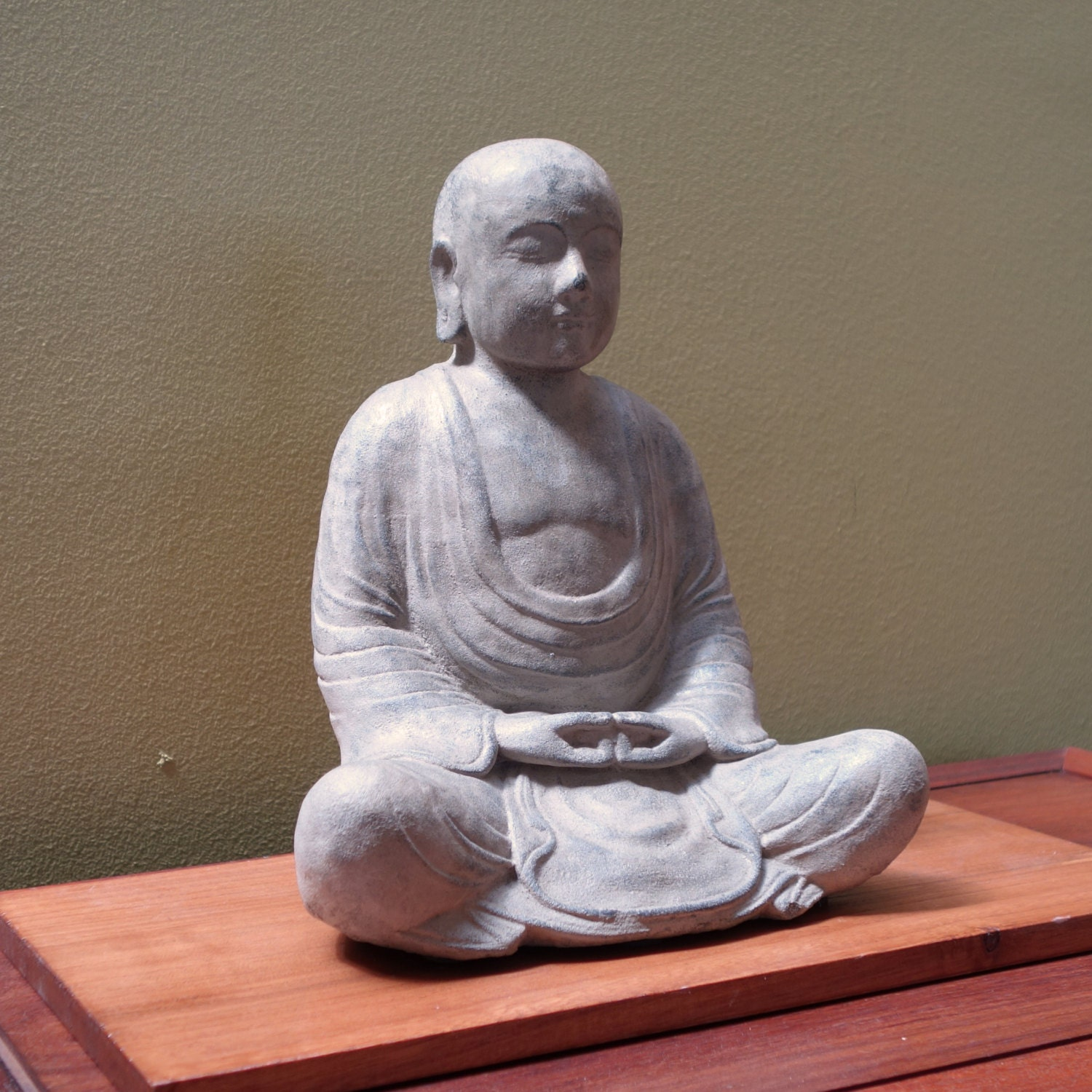 monk statue made of volcanic ash zen buddhism. Black Bedroom Furniture Sets. Home Design Ideas