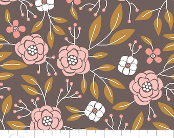 Floral Print Cotton Fabric, Quilting and Patchwork Fabric - Fat Quarter