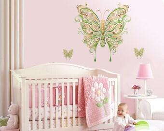 Nursery Butterfly Wall Decal, Nursery Butterfly Wall Sticker, Butterfly wall decor, Butterfly Wall Decal, Nursery Wall Sticker