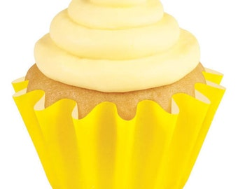 24 Wilton Yellow Baking Cups - Cupcake Liners
