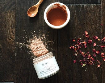 Organic/Vegan Face mask: Calma Terra Complexion Clay - French pink clay