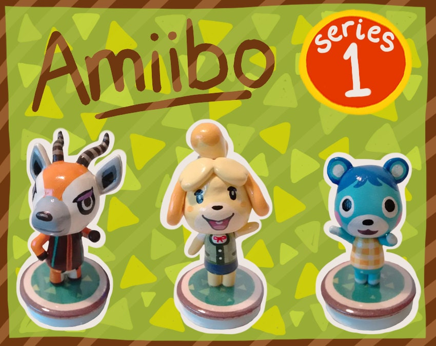 Series 1 animal crossing amiibo figures by shopbhawk on etsy - Happy home designer amiibo figures ...