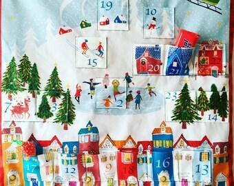 Advent calendar, Stocking advent calendar, Fabric advent calendar , Christmas Stockings, Advent calender, Fabric stockings, Mini stockings