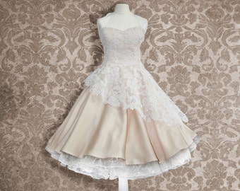 wedding gown with noble lace
