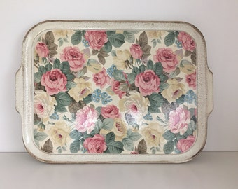 Sezzatini hand painted floral tray