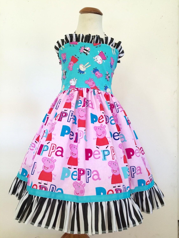 peppa pig dress peppa pig birthday dress party dress peppa