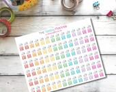 H11 Meal Planning utensils stickers for Erin Condren Life Planner/Plum Planner - set of 84