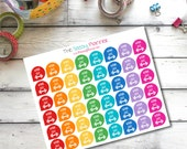 B6 Workout Gym Exercise Teadrop Planner Stickers for Erin Condren Life Planner