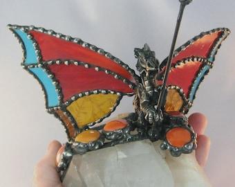 Guardian Dragon on Quartz Crystals