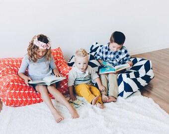 CUSTOM Floor Pillow, Large Floor Pillow, Pillow Pouf, Coral,Customize (COVER)
