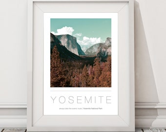 Yosemite National Park A3 / A2 Poster | Wall Art | Destinations | Photography
