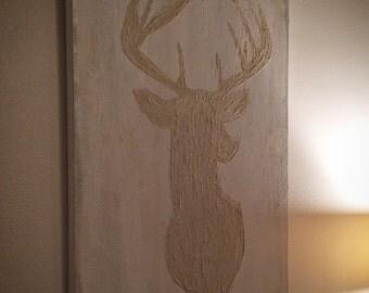 24x30 abstract deer