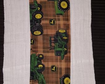 John Deere print burp cloth