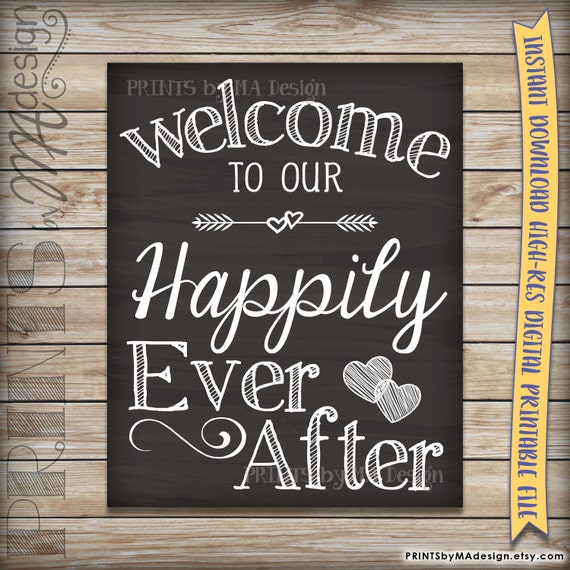 Canny image in wedding signage printable