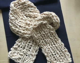 Scarf, Organic Cotton, Cream