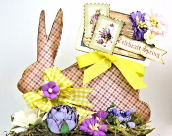 Yellow Easter Bunny Centerpiece