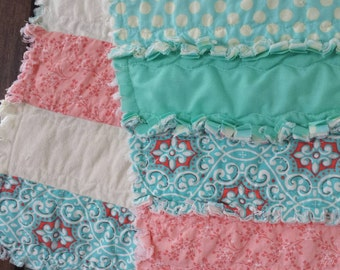 Rag Quilt Throw- cotton/flannel