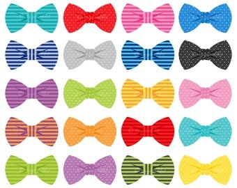 Bow Ties Vector Illustrations, Set, Collection, Commercial Use, Personal Use