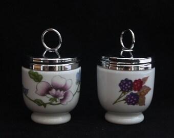 Two Vintage Royal Worcester Porcelain Egg Coddlers (Evesham, Astley - will split)