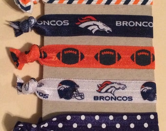 Denver Broncos Elastic Hair Ties