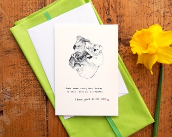 SALE* Mother's Day Card // Koala Mums // Funny Cute Mother's Birthday // Koala Information Facts