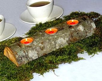 Wooden candle holder. Wooden Tea light holder. Rustic decor. Wood candle holder. Alder tea light holder. Christmas decor. Wedding decor.