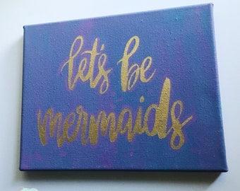 Mermaid Canvas, mermaid decor,