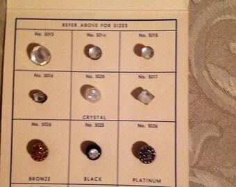 Button Salesman Sample Card form Nau Trimming Co.