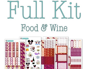 Food & Wine Festival Collection - Disney Planner Stickers