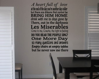 Les Miserables Wall Quote