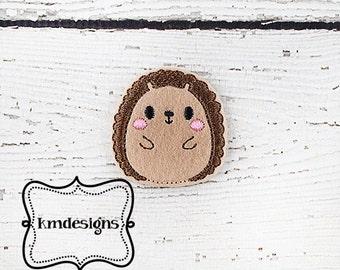 Woodland Animal  Hedgehog feltie ITH Embroidery design
