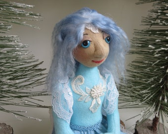 Handmade fairy doll, cloth fairy doll, fairy princess, snow fairy