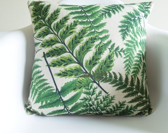 Fresh Summer Green leaves Print Cotton Linen Cushion/Pillow Cover in 18 x 18""