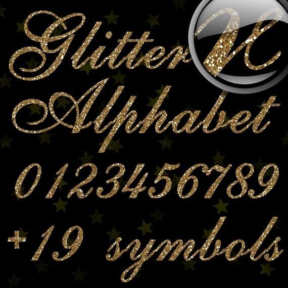 Gold Glitter Alphabet, Digital Glitter Alpha, Gold Digital Alphabet Letters, Gold Glitter Letters, Large Glitter Letters,  Design #71