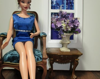 Barbie, Silkstone, or Dollhouse OOAK Floral Arrangement 1/6