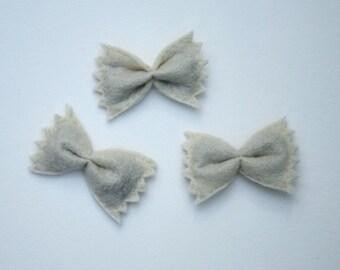 Handmade Felt Bowtie Pasta Catnip Cat Toy, Set of 3