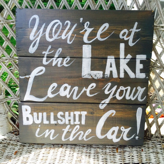 Rustic Lake House Decorating Ideas Rustic Lake House: Rustic Lake House Sign Personalized Lake Rules Wall Hanging