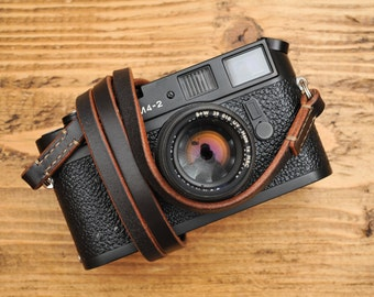 English Bridle Leather Camera Strap For The Minimalist (Sedgwick Leather Series).