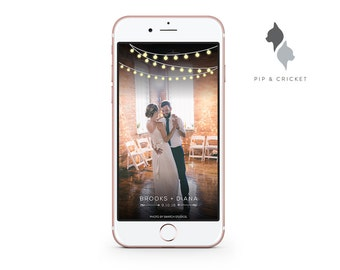 Personalized Wedding Snapchat GeoFilter: Lights & Arrows