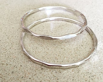 Sterling silver bangles scalloped style