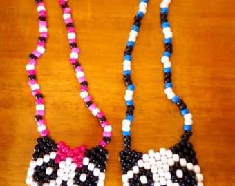 Panda with Bow Necklace