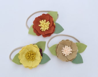 Fall Felt Flower Headband Set || Or choose one!