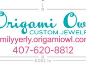 Origami Owl Car Decal, Living Locket