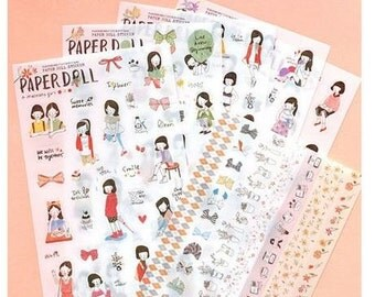 Paper Doll Sticker 6 sheets   ST0081