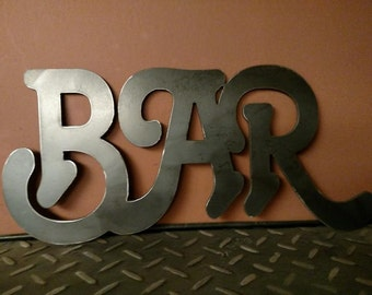 metal BAR sign