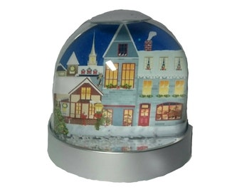 Christmas Village - Glitter/Snow Globe, Snowglobe, Dome