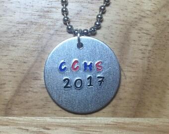 Custom School Graduation Necklace