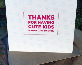 thank you card, mothers day card